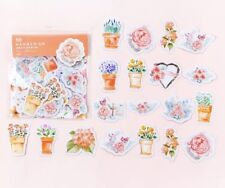 Pack of 45 Pieces Orange Flower Shaped Various Stickers Seals Cards & Craft