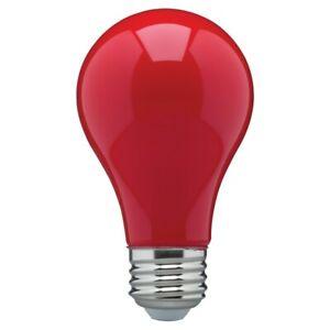 CERAMIC RED LED Bulb A19 Medium E26 8W 60 Watt Equivalent Damp Location Rated