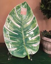 Cynthia Rowley Palm Leaf Melamine Serving Platter/Tray