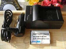 Battery + Charger for Samsung WB150F,WB250F,WB350F,WB800F,WB1100F Digital Camera
