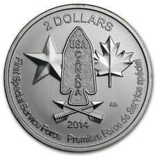 DEVIL'S BRIGADE FIRST SPECIAL SERVICE FORCE USA & CANADA 2014 1/2 oz Silver Coin