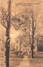 Norfolk Connecticut Church Of Christ Street View Antique Postcard K73313
