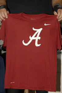 Alabama Crimson Tide T SHIRT NIKE TEE DRI FIT XL SEC football white on red