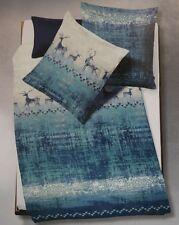 Fleuresse Feinbiber Flanell Winter Bettwäsche Renntiere blau 155x220 cm  4-tlg.