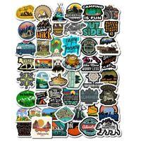 50Pcs/Lot Vinyl decals Laptop Stickers Waterproof Outdoor Adventure Skateboard