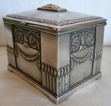 ART NOUVEAU WMF GERMANY SILVERPLATED JEWELRY / TRINKET BOX