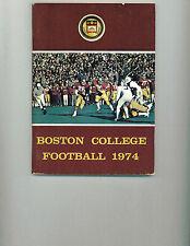 1974 Boston College Eagles Football Media Guide Mike Esposito VERY GOOD Condit