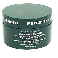 Peter Thomas Roth Green Releaf Therapeutic Sleep Cream 1.7 oz New