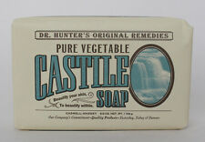 Caswell Massey Dr Hunter's Pure Vegetable Castile Unscented Soap Bar 6.5 oz NEW