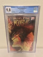 Hunt For Wolverine #1 CGC 9.8 NM+/M 1:500 Adam Kubert variant Marvel Comics 2018