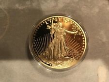 LIMITED EDITION 24KT GOLD LAYERED COMMEMORATIVE 1933 GOLD DOUBLE EAGLE W/COA