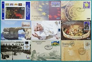 MALTA Collection / LOT of 9 MInt /SHC Cancelled - postal / Occassion Cards