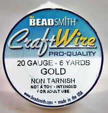 Beadsmith Craft Wire Pro Quality Gold 20 Gauge 6 yards