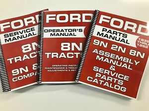 Ford 8N 9N 2N Service Manual Parts Manual Assembly Manual Shop Manual 8N OWNERS
