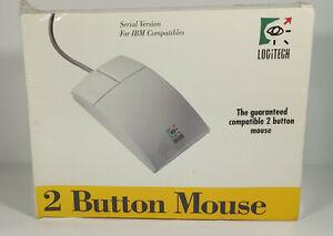 Rare Vintage Logitech Two Button Mouse Model 0253 280 PCA Serial Version IBM