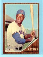 1962 Topps Baseball Card #240  George Altman --  Chicago Cubs  (EX)