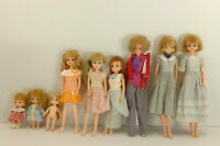 Takara Licca chan doll Vintage Dress up Lot of 9 From Japan A0005