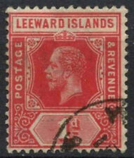 Leeward Islands 1912-22 SG#48, 1d Red KGV Used #D10959