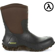 """ROCKY CORE CHORE BROWN 10"""" RUBBER OUTDOOR BOOTS RKS0371 - ALL SIZES * NEW"""