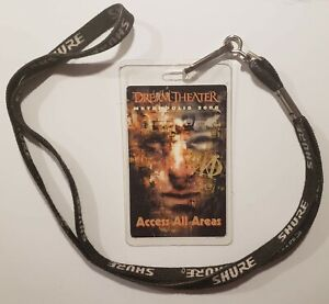 DREAM THEATER Laminated Backstage Pass Metropolis 2000 ACCESS ALL AREAS