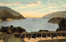 Looking Up The Hudson River from West Point Battery New York 1913 Postcard