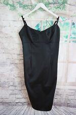 Women's SPIRIT Black Silky Stretch Bodcon Sleeveless Dress - UK16 EU44