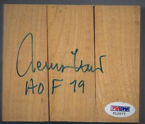 JERRY WEST  AUTOGRAPH HARDWOOD FLOOR 4 3/8 x 3 3/4  PSA/DNA