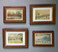 Vintage miniature oil paintings