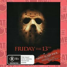 Friday the 13th: Triple 'Slash' Pack (Friday the 13th   - BLU-RAY - NEW Region B