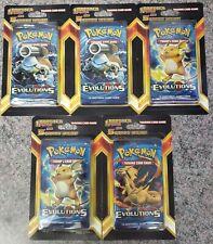 Pokemon Xy Evolutions Blister Pack Plus 5  - 5 Packs - 75 Cards Total - NEW