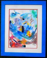 Tableau-Aquarelle sur carton signée et titrée-Art abstrait