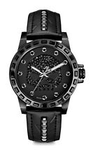 Harley-Davidson® Bulova Womens Willie G Skull Black Stainless Steel Watch 78L126