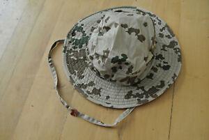BUNDESWEHR BUSCHHUT FLECKTARN TROPENTARN BW 60 Angelhut Nato Armee Boonie Nato