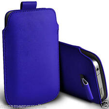 """Blue PU Synthetic Leather Pouch Sleeve Protective Case for iPhone 6 6G 4.7"""" NEW"""