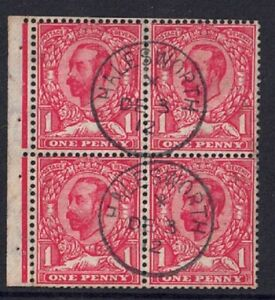GV Downey Head Booklet pane SG 336/7f var White flaw above right Value Used