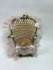 """11"""" Peacock Chair For Soft Toys Or Pot Plants"""