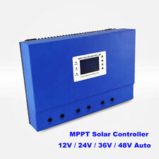 100A MPPT Solar Charge Controller 12V/24V/36V/48V Auto Battery System Off Grid