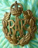 Royal Air Force Cap Badge RAF Badge KC BRASS 2 Lugs ANTIQUE Original