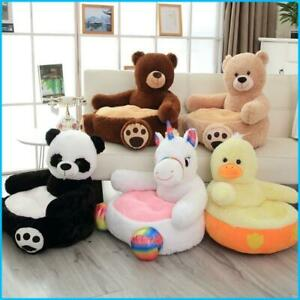Kids Plush Armchair Soft Cute Animal Chair Children Sofa Seat Teddy Bear Panda