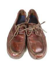 Rockport Leather Brown 2 Eye Boat Deck Shoes Slip On Loafers Mens 11 M