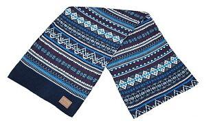 Ben Sherman Fairisle Knit Scarf Mens Scarves Knitted