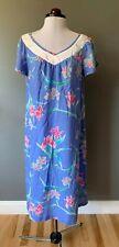 WOMENS VINTAGE HILO HATTIE HAWAIIAN FLORAL PRINT MUU MUU DRESS SIZE M