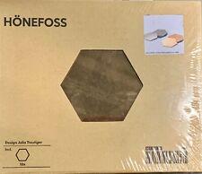 IKEA HONEFOSS 10 HEXAGONAL CHROME BRASS MIRRORS, DECOR 19661,JULIA TREUTIGE, NEW