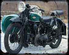 Bsa G14 01 A4 Metal Sign Motorbike Vintage Aged