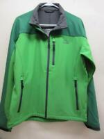 L.L.Bean Pathfinder Soft-Shell Jacket Green Medium Regular Coat Water Resistant