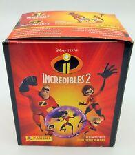 The Incredibles 2 Incredibles panini Box 50 Packs Figurines Display Sticker
