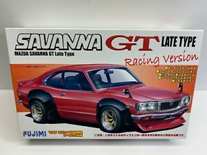 Fujimi 1:24 Scale Vintage Mazda Savanna GT Late Type Racing Version Model Kit