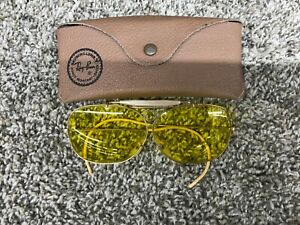 Vintage Ray Ban Aviator Shooting Glasses