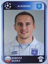 Panini 471 Dariusz Dudka AJ Auxerre UEFA CL 2010/11