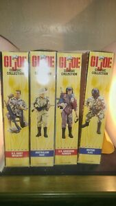 """GI Joe lot of 4 Classic Collection 12"""" Action Figure 1996. All mint in box"""